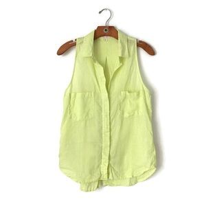 Anthropology | cloth & stone Linen Button up Tank
